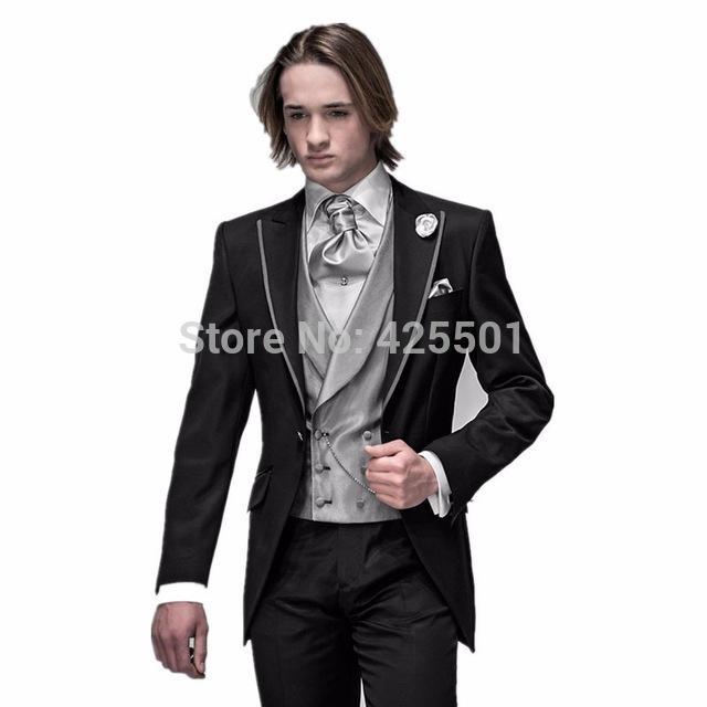Anzüge Herrenbekleidung & Zubehör jacke + Pants + Tie + Vest 2017 Bräutigam Smoking Schokolade Zweireiher Hochzeit Abendessen Bräutigam Männer Anzüge Best Man Bräutigam Männer Anzug
