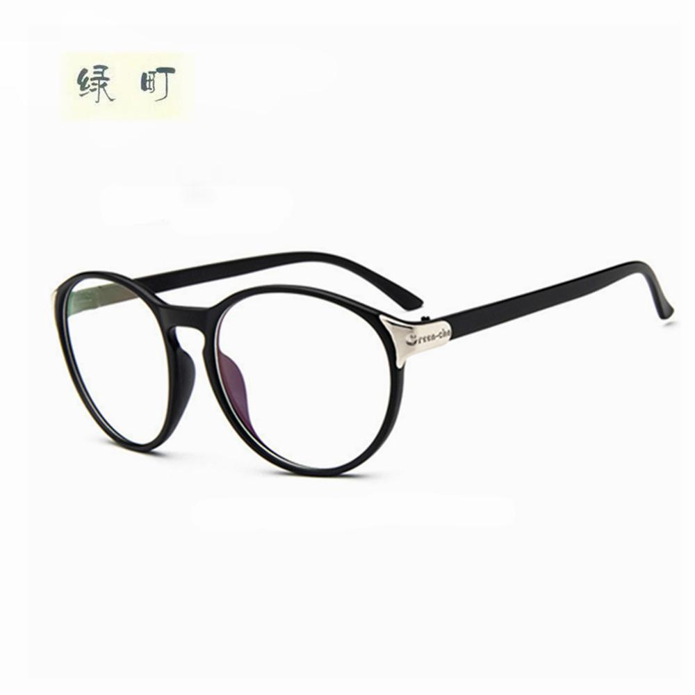 a3bba3e8e04 2019 Wholesale 2017 Fashion Big Glass Frame Without Lenses Round Eye  Glasses Frame For Women And Men Oculos De Grau 2166 From Hoganr