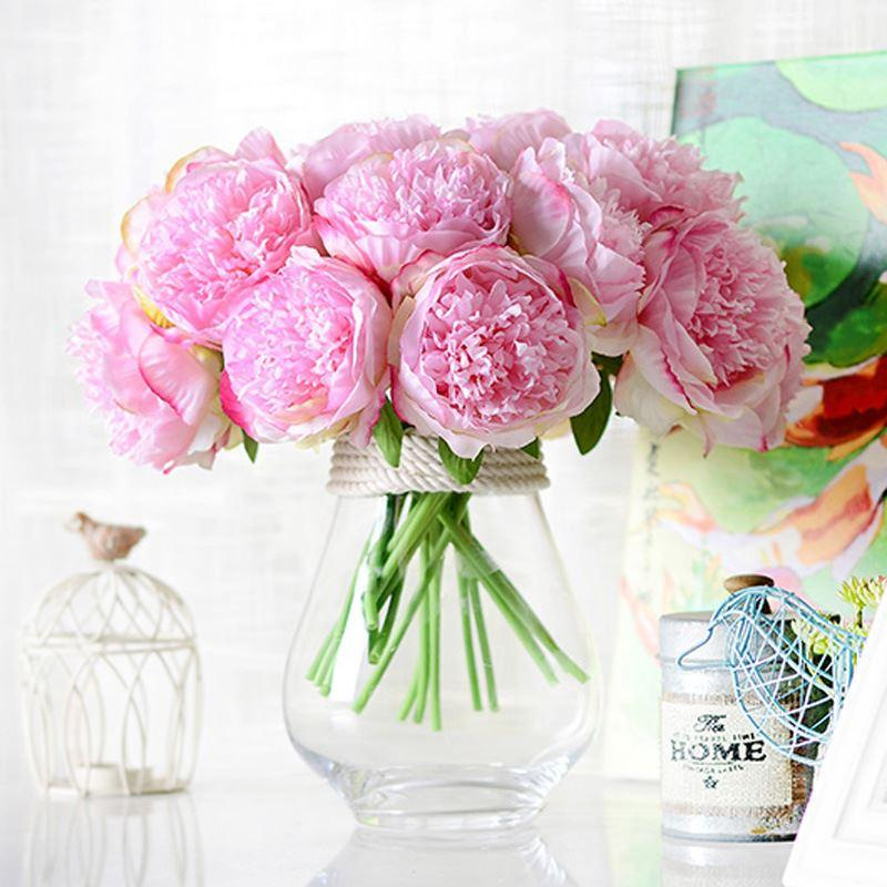 Online Cheap Silk Flower Wedding Bouquet Peony Dahlias Artificial ...