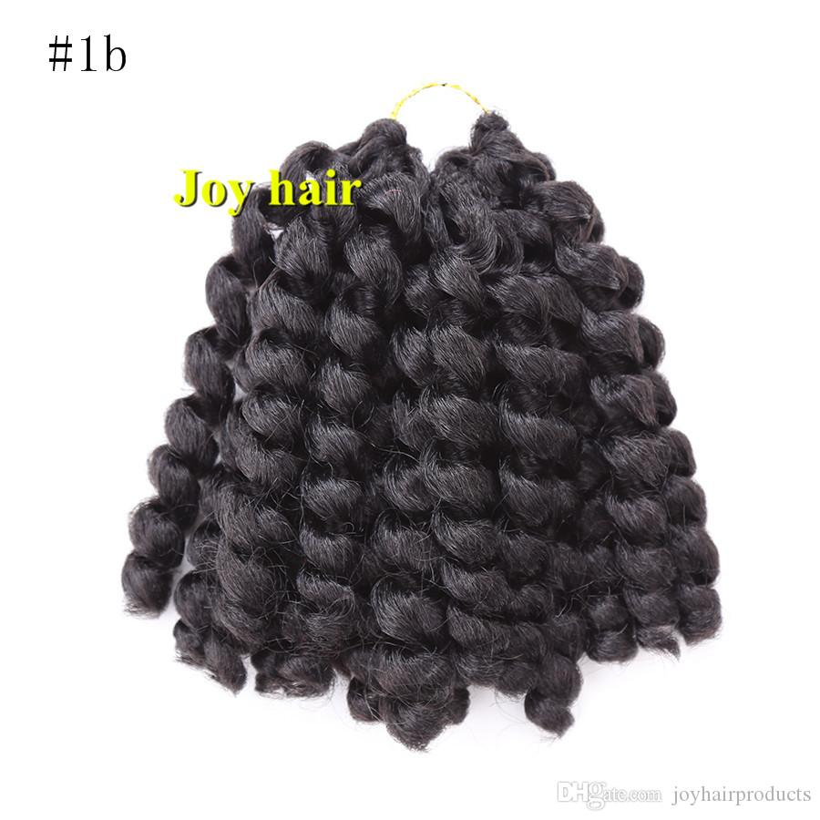 Jumpy Wand Curl Twist Janet Crochet Braids Marley Bounce 8-10 inch Twist Braid Kanekalon Synthetic Hair Extension