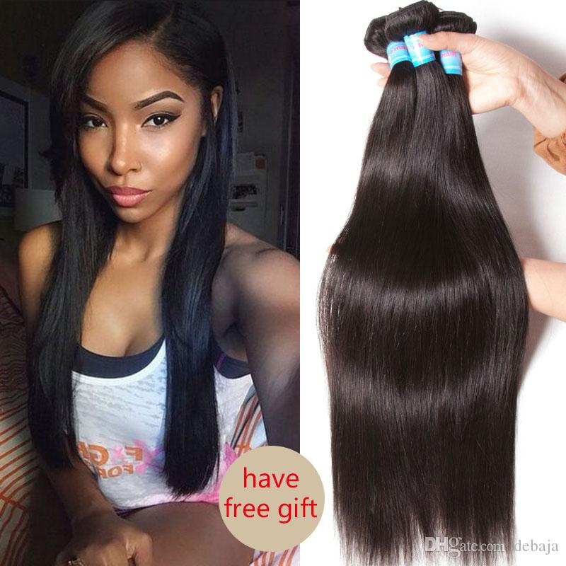 2018 crochet weave human hair extensions for black women straight 2018 crochet weave human hair extensions for black women straight brazilian virgin hair weave bundles natural black long hair wefts dyeable from debaja pmusecretfo Gallery