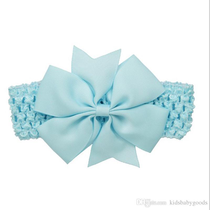 Pretty Headbands Bow con fasce elastiche capelli Kids little Girl Boutique Archi accessori capelli fascia capelli Corda capelli