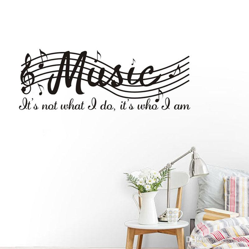 staff music note vinyl wall decal quote diy art mural removable wall
