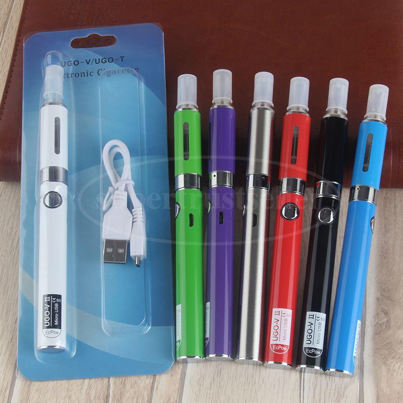 eVod MT3 Atomizer eGo Vape Pen Starter Kit with 650 900 mah UGO V ii USB Battery Pass Though PK eVod CE5 Blister