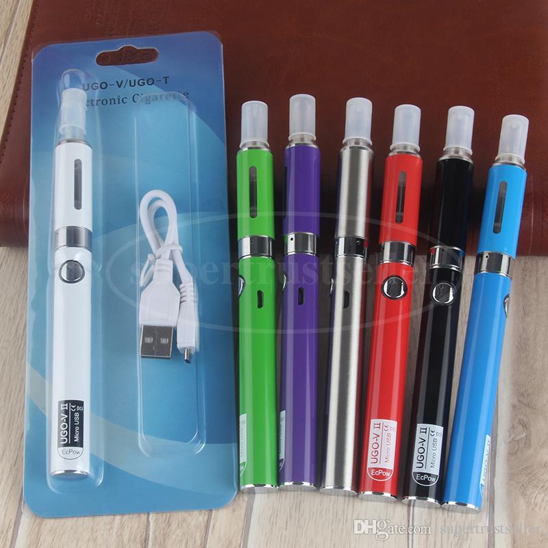 مجموعة أدوات بدء تشغيل eVod USB للبادئة MT3 نفطة UGO V II MT3 Vape E السجائر كاتب أطقم مع 650 900 مللي أمبير سعة 2.4 مل الدبابات