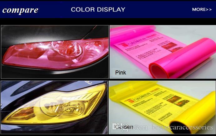 1000cmx30cm 13 Colours Waterproof Self Adhesive PVC Car Headlight Film Auto Car Sticker HeadLight Taillight Tint Vinyl