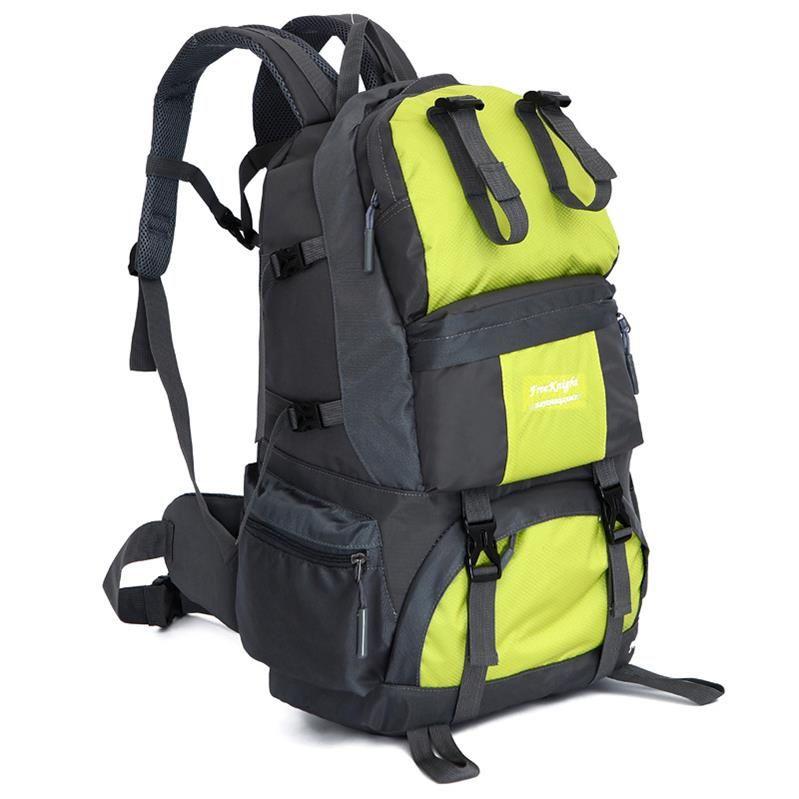 무료 하이킹 배낭 50L 방수 캠핑 스포츠 가방 대용량 야외 가방 등산 사냥 여행 배낭 등산 배낭