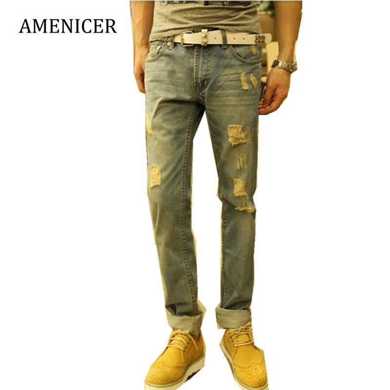 Acheter Hommes De Marque En Gros Célèbres Pantalons Jeans Casual Pantalons  Bleus Camouflage Stripe Moto Pantalons Skinny Denim Pantalons Pantalons ... ee8b529a3f44