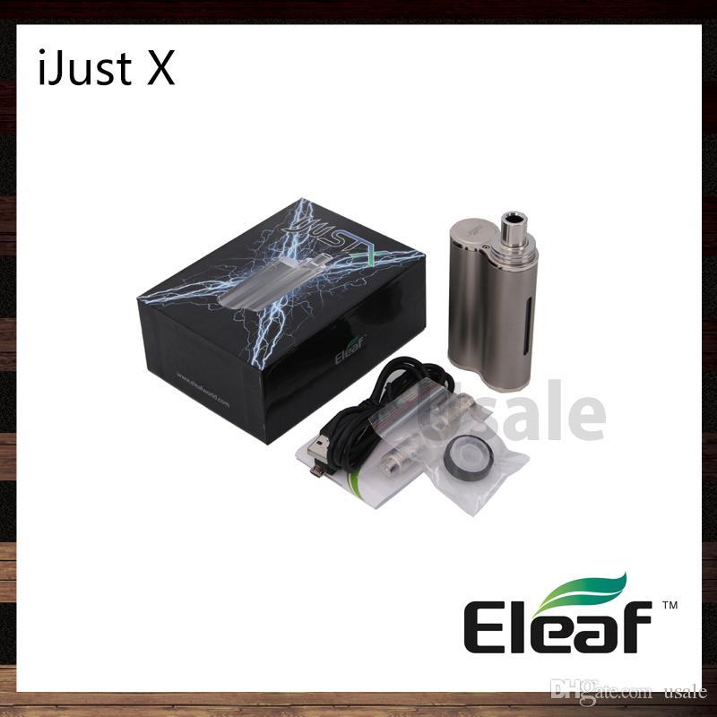 iSmoka Eleaf iJust X Kit Aio Com 3000 mah Bateria 7 ml Tanque de Enchimento Sistema à Prova de Vazamento Com CE Bobina Cabeça 100% Original