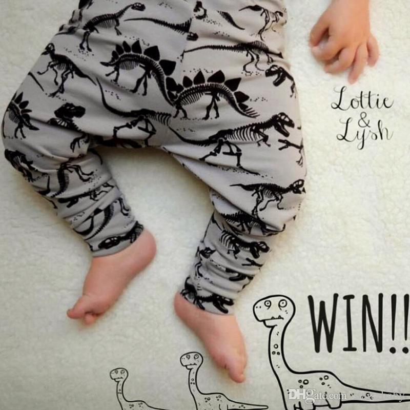 Baby Ins PP Pants Ins Xmas Harem Pants Cotton Leopard Fox dinosaur Pants Kids Fashion Leggings Girl Tights Newborn Trousers 6 Design