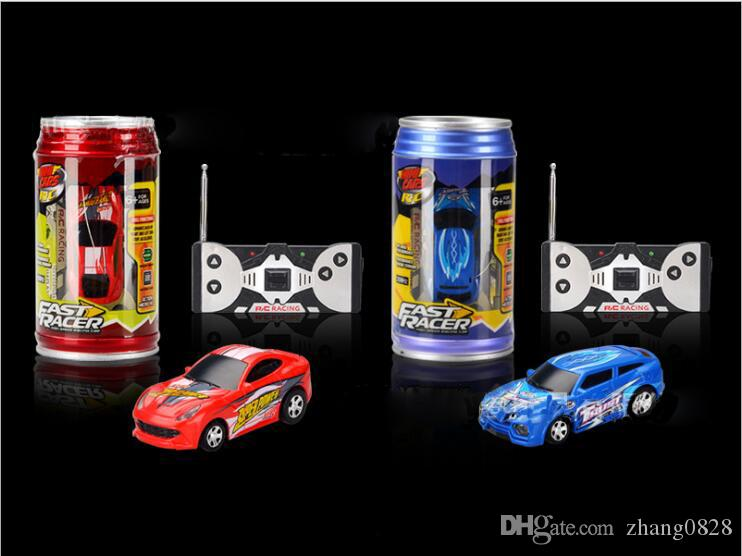 Free Epacket color Mini-Racer Remote Control Car Can Mini RC Radio Remote Control Micro Racing 1:64 Car 8803 children toy Gift