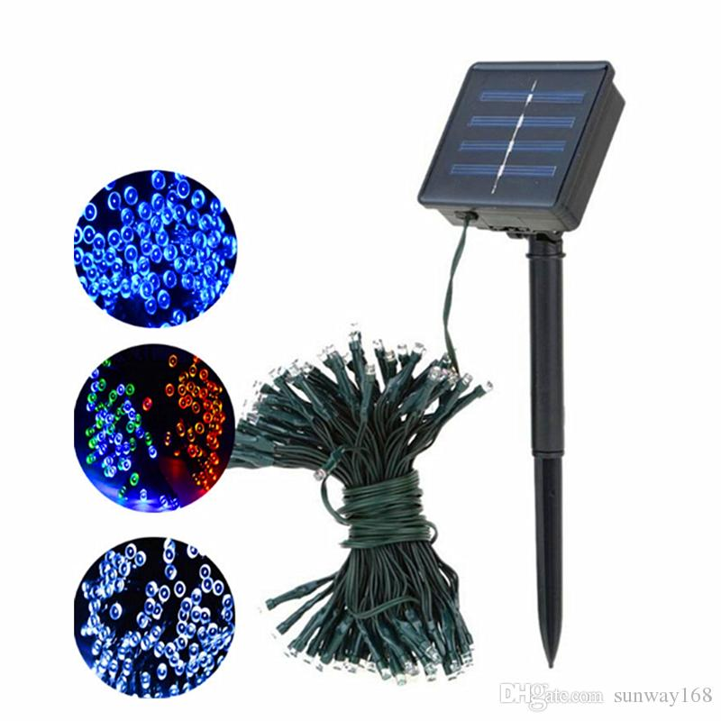 12m 22m led solar string light 100leds 200leds solar power fairy lights waterproof outdoor led christmas lights for garden party decor string christmas
