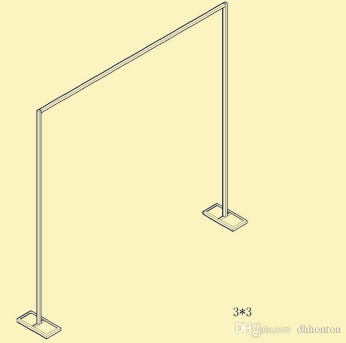 الفولاذ المقاوم للصدأ قوس خلفية قابل للخلفية زفاف الستار من WQ09 إطار الستار