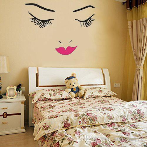 Beautiful Buteerflies Girl Wall Mural Girls Face Makeup Lips Eyes Vinyl Art  Wall Sticker For Home Decor Mural Stickers For Walls Mural Wall Decals From  ... Part 64