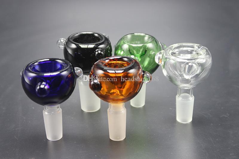 2017 Vidro colorido Bowls 14 milímetros 18mm Masculino conjuntas cores diferentes tubulações de água Bong Bacia Com Para Bongs frete grátis