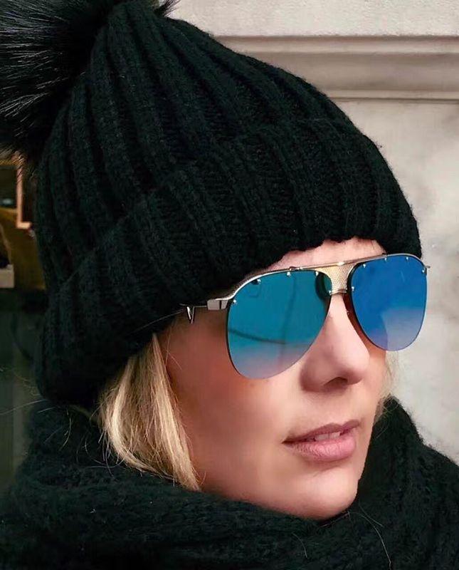 nuevas gafas de sol medusa sin montura piloto gafas de sol hombres marca diseñador recubrimiento mirrorr lente VE2178 estilo steampunk verano estilo