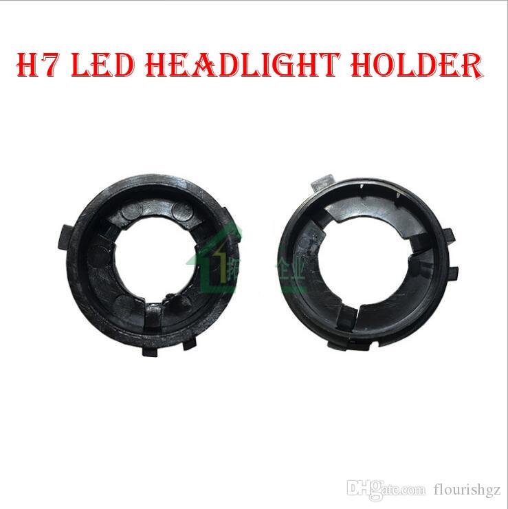 H7 LED Headlight Conversion Kit Bulb Base Holder Adapter Retainer Socket Clip For Volkswagen VW Golf 6 Multivan Touran Sharan Scirocco