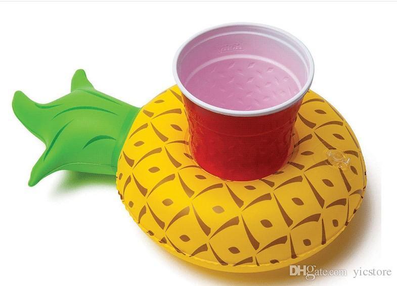 Supporto della tazza del supporto della tazza della bevanda gonfiabile che fa galleggiare il giocattolo adorabile del bagno della piscina il partito 1000g dei fenicotteri del partito dei fenicotteri della spiaggia