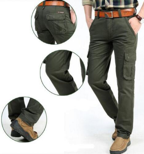 c38dd97d67 Compre 2017 Brand Men s Calças Militar Carga Multi Bolsos Baggy Homens  Calças Casual Calças Macacões Exército Green Calças De Apparelbase