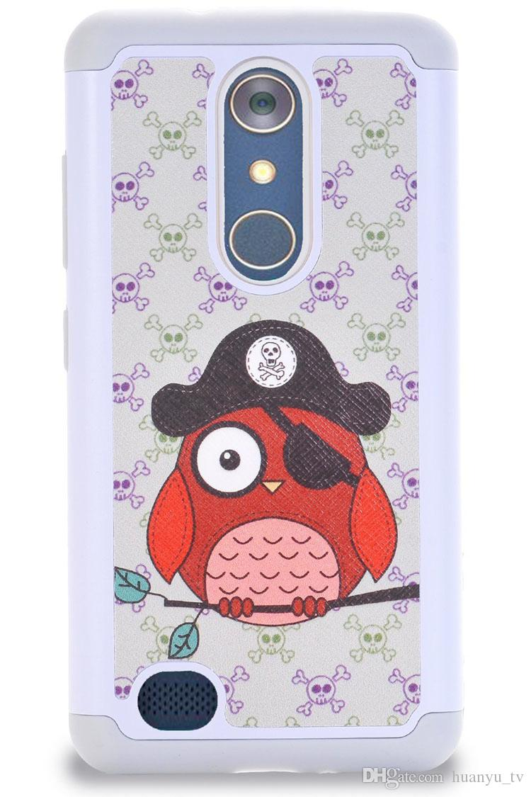 Painting Bling Crystal Cases For ZTE MAX XL N9560/Z max pro 2 Silicone+ PC +TPU 2 in 1Anti-Fall Cell Phone Case