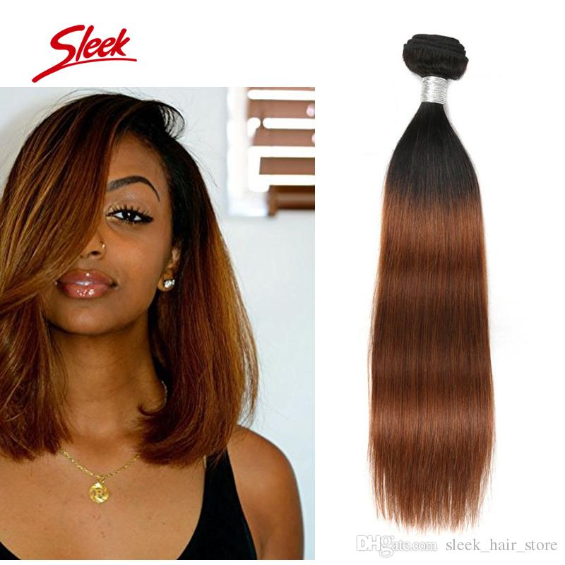 1b30 Brazilian Ombre Human Hair Weaves Virgin Hair Extensions Wefts