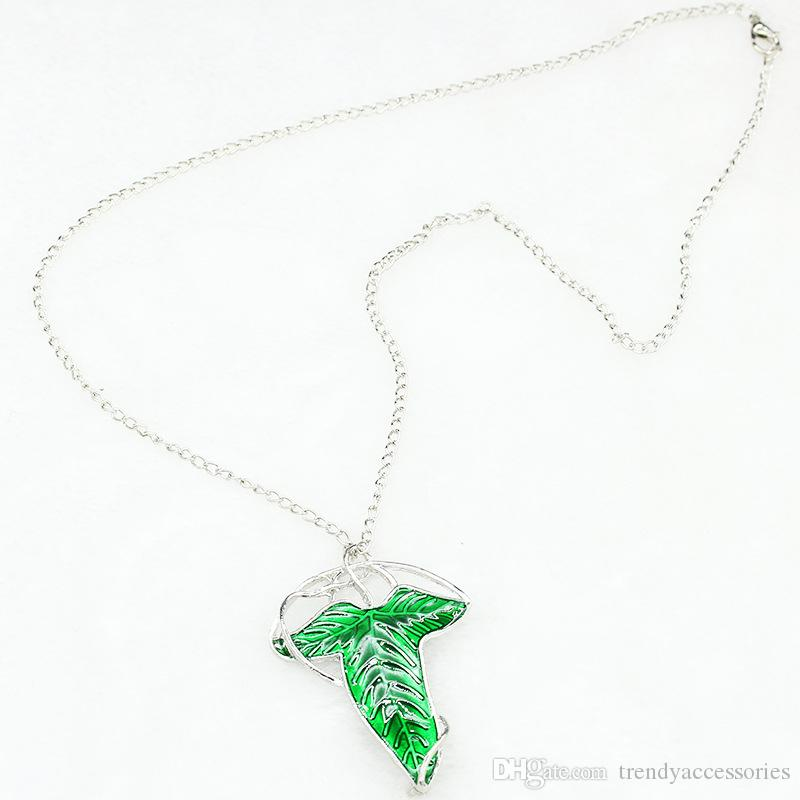 Arwen's Evenstar Elf Princess Brooch Pendant Necklace Lord Of Rings Jewelry Hobbit Elven Leaf Necklaces