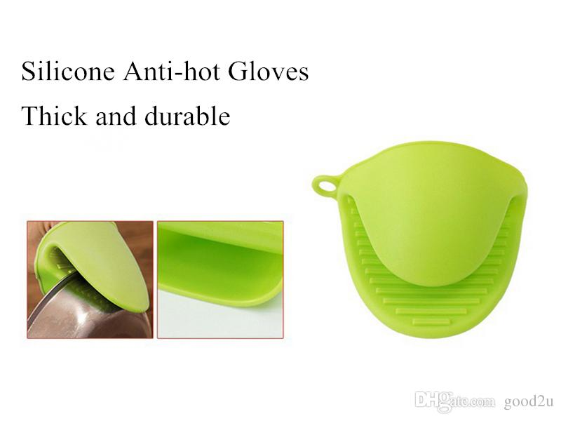 Silicone Heat Resistant Tray Bowl with of Baking with Anti Hot Gloves Microwave Oven Mitts Kitchen