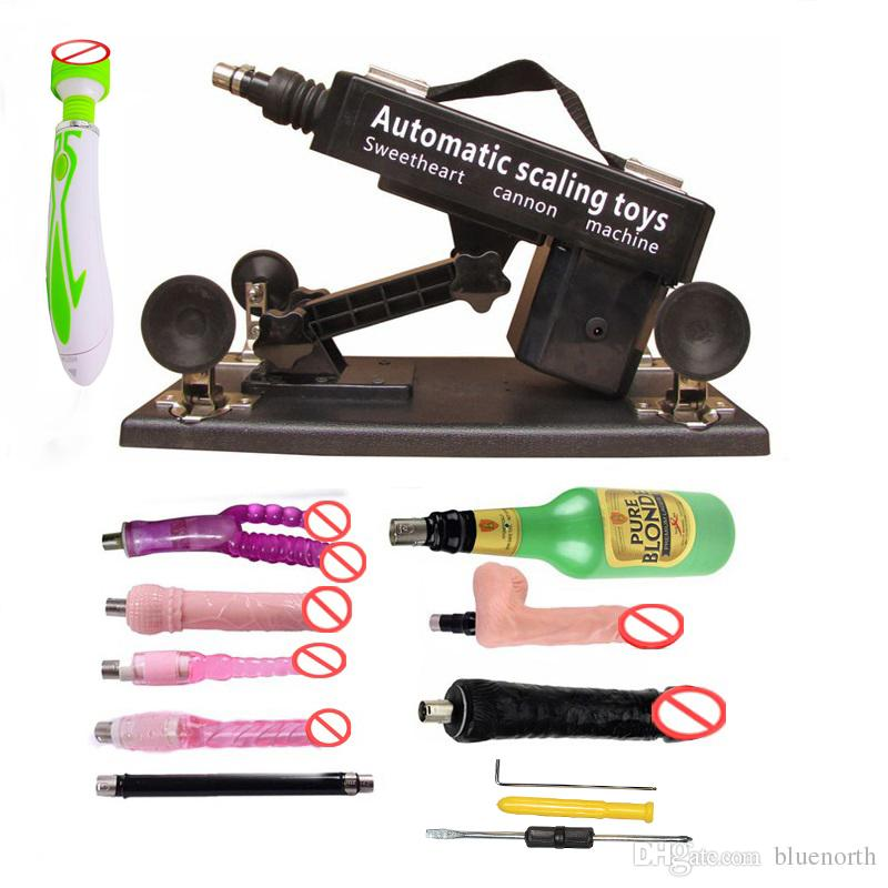 2018 Free Shipping Luxury Automatic Sex Machine Gun Set for Men and Women,Love Machine with Male Masturbation Cup and Big Dildo Toys