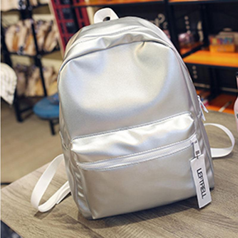b0f7e93989a89 Wholesale Women Silver Backpack Glossy Backpacks For Teenage Girls  Holographic PU Leather Bag Pink Students School Rucksack QIGER Dakine  Backpack Best ...
