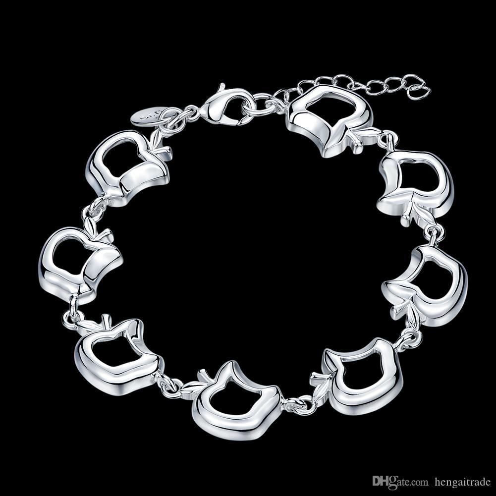 Ücretsiz kargo Toptan 925 Ayar gümüş kaplama istakoz charm bilezikler LKNSPCH559LKNSPCH553