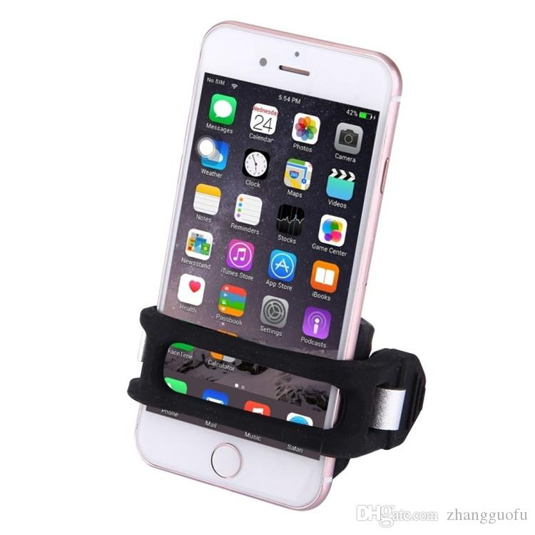 Newest Universal Bicycle Phone Holder 4-6inches Mobile Antiskid Bike Phone Mount Mobile Phone Support For iPhone 7 plus Samsung S6 DHL free