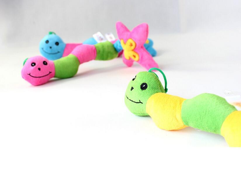 Mode Kauspielzeug Hund Haustier Welpe Kauspielzeug Quietschen Quietschender Plüschton Bunter Käfer Spielzeug 3 Farben Haustiere Ton