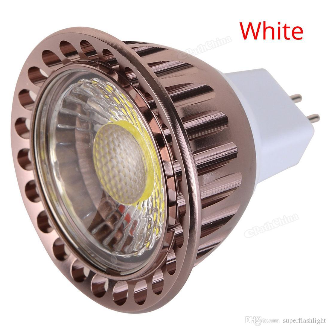 Dim MR16 720-800LM 6 W 12 V LED Ampul Sıcak Beyaz / Beyaz COB Spotlight Downlight LED_10V