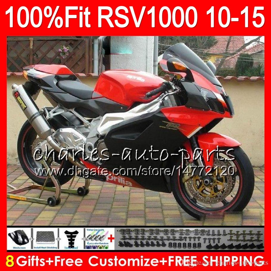 Injection For Aprilia RSV1000 R Mille RSV1000 10 11 12 13 14 15 Red black 77NO18 RSV 1000R RSV1000R 2010 2011 2012 2013 2014 2015 Fairing