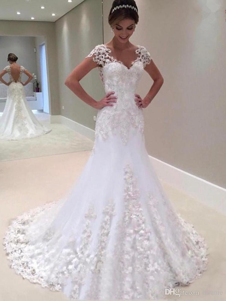 Großhandel E2 Modische Backless 2017 Hochzeitskleid Brautkleider ...