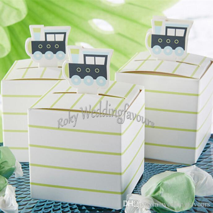 """Free Shipping!12PCS 2.5"""" Train Candy Boxes Baby Shower Party Favors Birthday Party Favor Box Table Decoration Supplies"""
