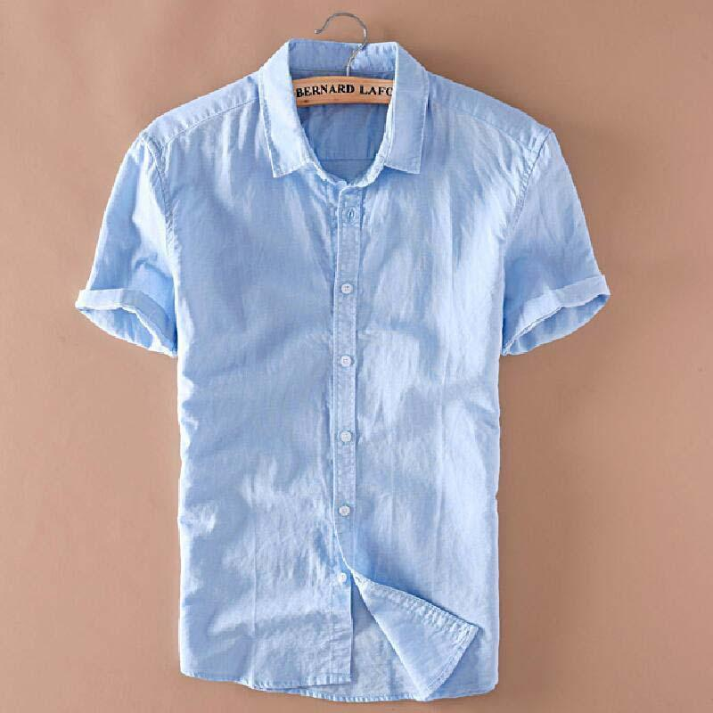 1da467fcafc 2019 Wholesale Mens Linen Shirts Short Sleeve Summer Mens Quality Casual  Shirts Slim Fit Solid Cotton Shirts Men Camisa Masculina TS 149 From  Xiatian7