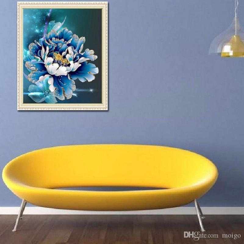 5D алмазная мозаика сама пион цветок картины 3D алмаз вышивка стикер стены домашнего декора холст подарок Sementes-de flores