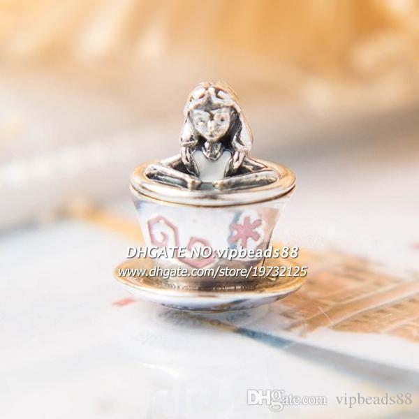 2017 осень новый Кубок Алисы подвески бусины 925 стерлингового серебра бусины ювелирные изделия для женская мода DIY браслет