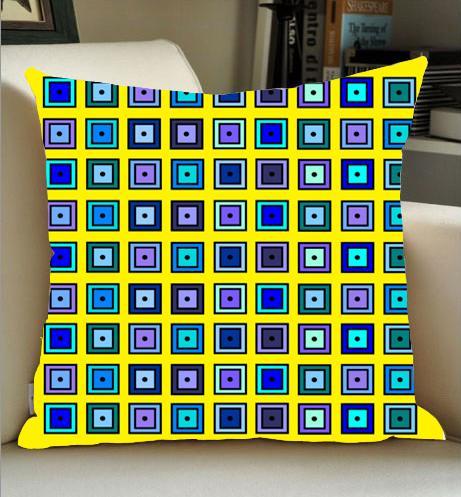 De alta qualidade por atacado direto da fábrica nostálgica pano de linho de malha quadrados quadrados lados fronha 16x16 polegada 18x18 polegada 20x20 polegada