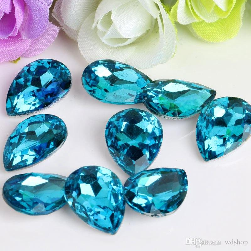 Wholesale 8*13mm Crystal Drop Rhinestone Glass Gems Crystal Stones Sew On Crafts Decorations DIY Rhinestone Loose Beads