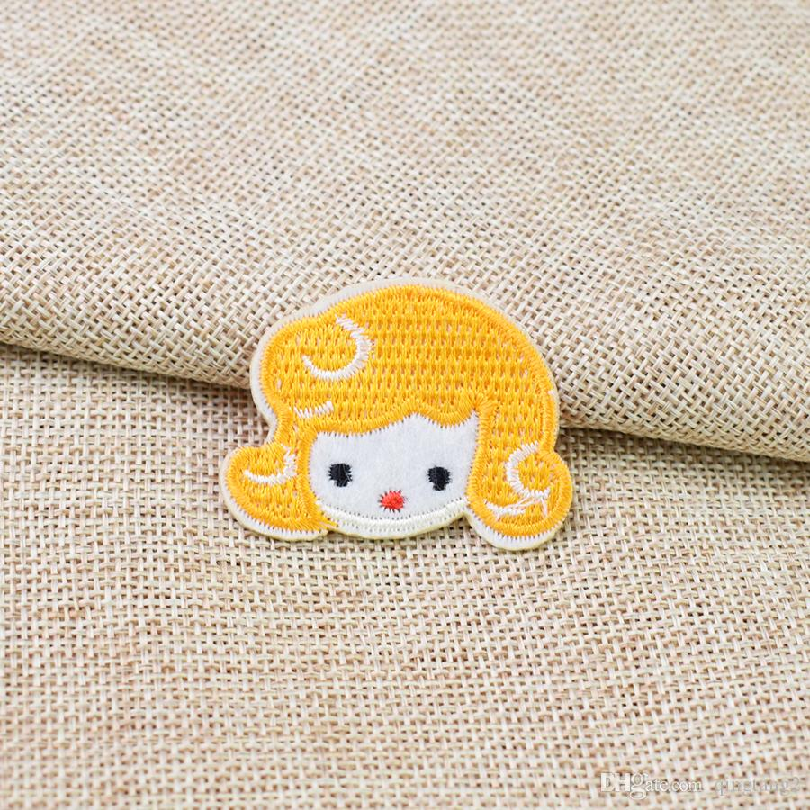 yellow hair girl embroidery patches for clothing iron fashion patch for clothes applique sewing accessories on clothes iron on patch