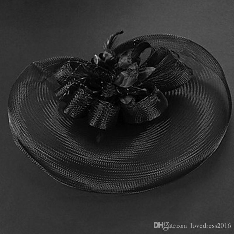 New Arrival Bridal Banquet Wedding Party Fascinator Hats 2018 Hot Sale Women Tulle Headpiece Bridal Accessories Cheapest