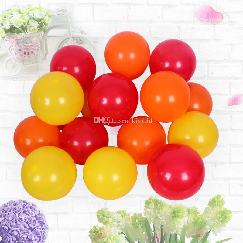 200 Stück Latex sortierte Orange Ballon Hochzeit Gunst Party Dekorationen Halloween gute Qualität oder rot gelb