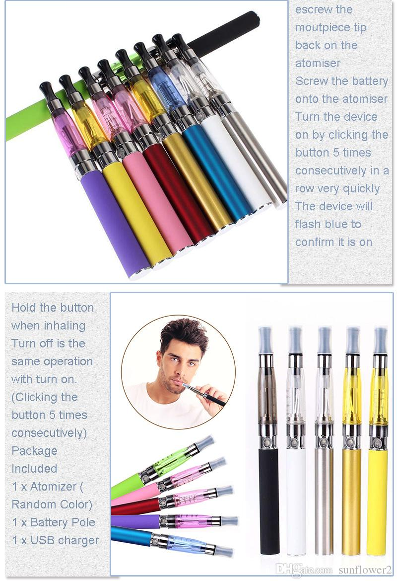 DHL Fast shipping 1100mAh CE4 Vape Vaporizer Pen Complete Starter Kit + USB Charger 1100mAh EGO-T Battery CE4 Vape Pen Vaporizer