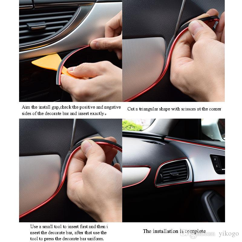 10M 트림 스트립 액세서리 DIY 브랜드 실 스티커 장식 및 데칼 3D 자동차 스타일링 인테리어 장식 액세서리 스트립