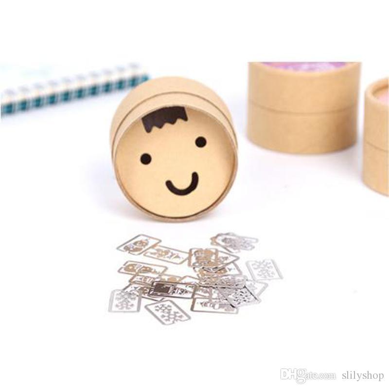 20 PZ / One Box Mini Segnalibro Segnalibro in metallo Cute Cartoon Animal Placcato Nastro Segnalibri Cancelleria Regalo Libro Linea Marker