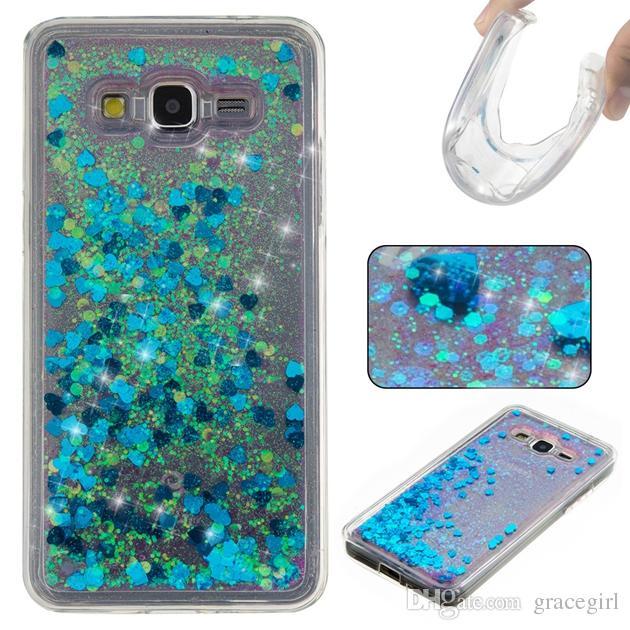 Liquid Quicksand Soft TPU Case For Samsung Galaxy A310 A510 J3 J310 J5 J510 Grand Prime G530 G360 Glitter Star Love Float Rubber Skin Cover