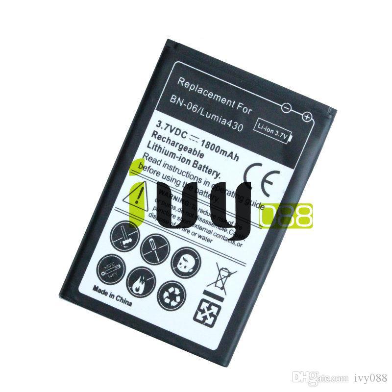 / 1800mAh BN06 BN06 BN 06 Substituição de bateria para Microsoft Nokia Lumia 430 Lumia430 Baterias Batteria Batterij
