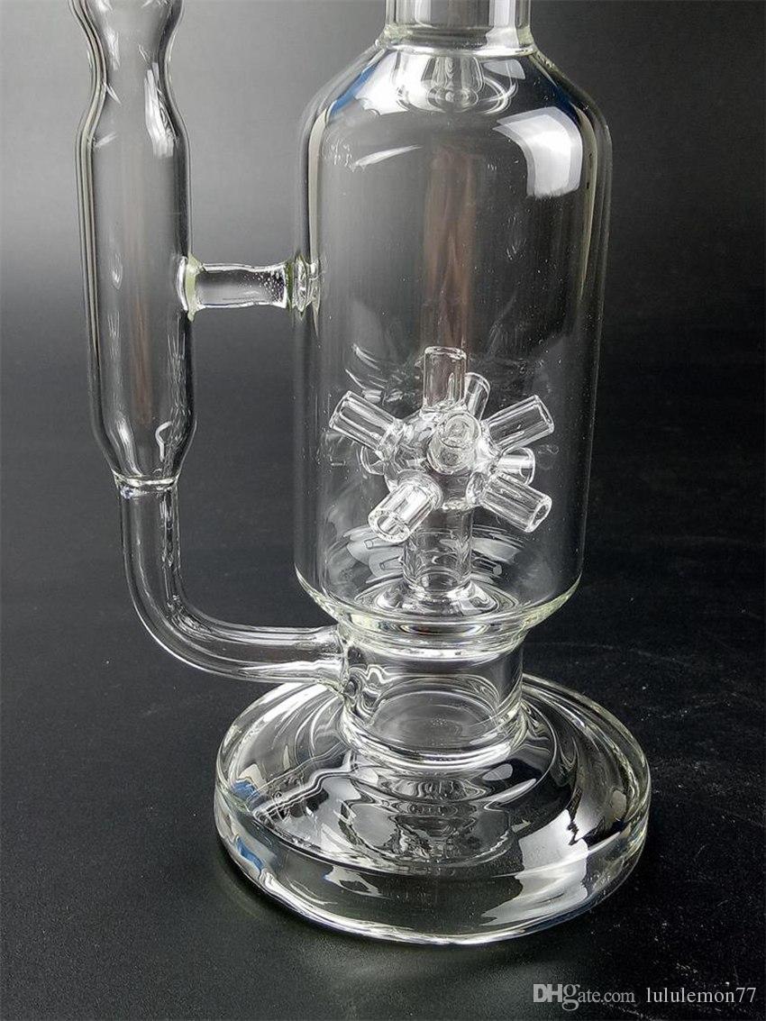 Frete Grátis Plataformas Dab Sprinkler Perc Bongos com 14.5mm Feminino Tubo De Água De Vidro com Tigela WP507